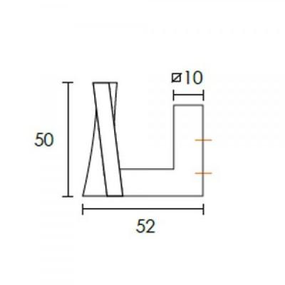 Κρεμάστρα τοίχου Conset C1087 άσπρη ματ