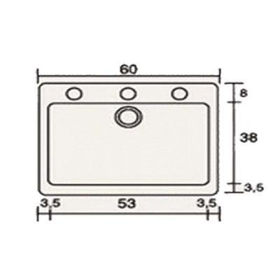 Νεροχύτης Γρανίτη 331 (60x50cm)