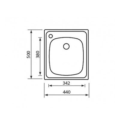 Νεροχύτης Ανοξείδωτος 11934 (44x50 1V)
