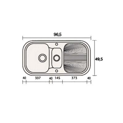 Νεροχύτης Γρανίτη 301 (97x50cm)