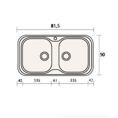Νεροχύτης Γρανίτη 312  (82x50cm)