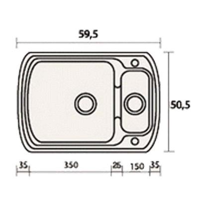 Νεροχύτης Γρανίτη 314 (60x51cm)