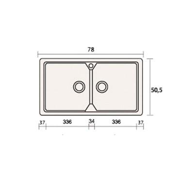 Νεροχύτης Γρανίτη 318 (78x51cm)