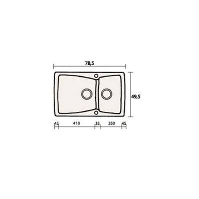 Νεροχύτης Γρανίτη 320 (79x50cm)
