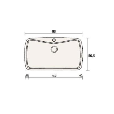 Νεροχύτης Γρανίτη 321 (83x51cm)