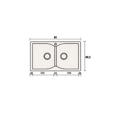 Νεροχύτης Γρανίτη 322 (81x50cm)