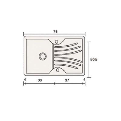 Νεροχύτης Γρανίτη 327 (78x50cm)