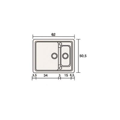 Νεροχύτης Γρανίτη 330 (62x51cm)
