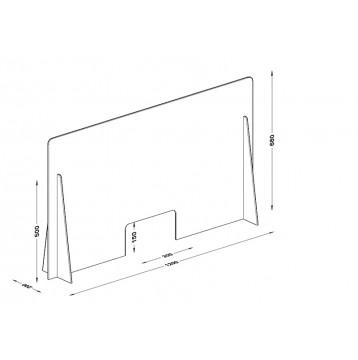 Διαχωριστικό - Προστατευτικό 120X68  Plexiglass 3mm για Ταμεία - Γραφεία