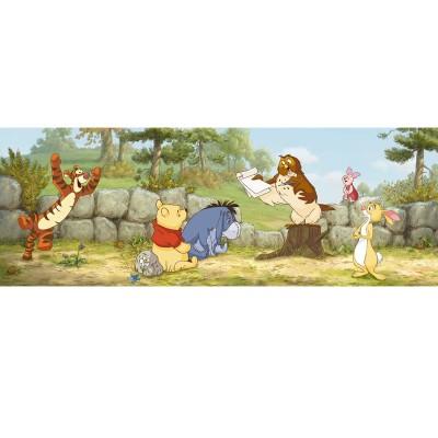 """Φωτοταπετσαρία τοίχου παιδική Komar 1-412  """"Winnie Lesson One"""" DISNEY 202x73cm"""