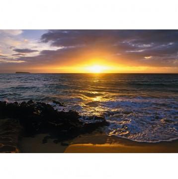 Φωτοταπετσαρία τοίχου Ηλιοβασίλεμα στην παραλία (beach)184x127cm