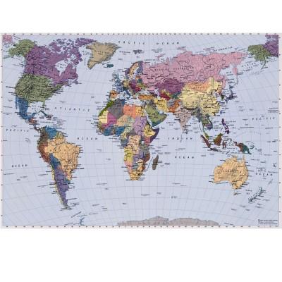 Φωτοταπετσαρία τοίχου Παγκόσμιος χάρτης (World Map) 270x188cm