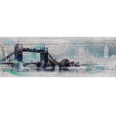 Φωτοταπετσαρία τοίχου Λονδίνο (bridge LONDON) 368x127cm