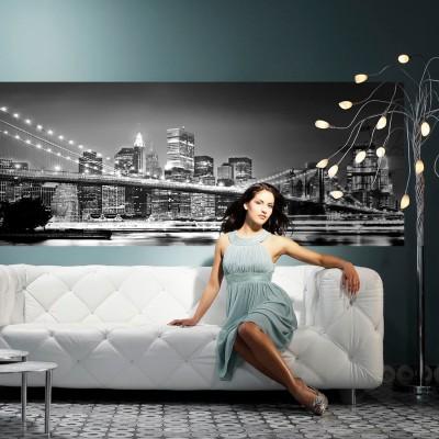 """Φωτοταπετσαρία τοίχου  Komar 4-320 """"New York Brooklyn Bridge """"   (NEW YORK) 368x127cm"""