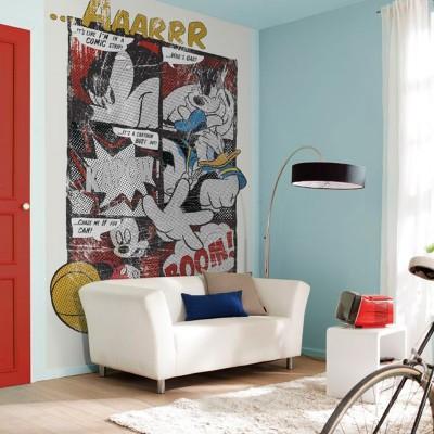 Φωτοταπετσαρία  τοίχου παιδική Μίκυ στυλ κόμικς MICKEY DISNEY184x254cm