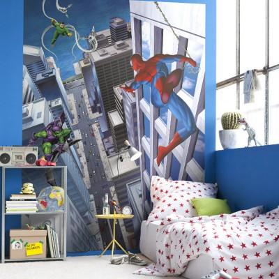 Φωτοταπετσαρία τοίχου παιδική Spiderman MARVEL 184x254cm