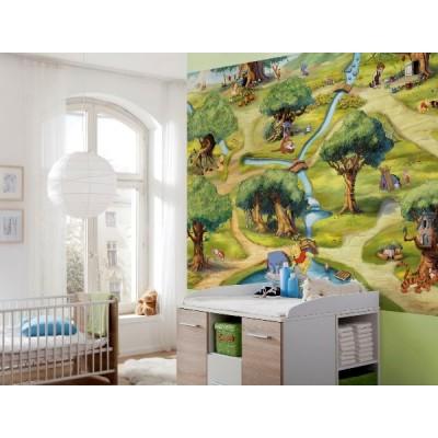 Φωτοταπετσαρία  τοίχου παιδική Wiinie The Pooh DISNEY 254x184cm