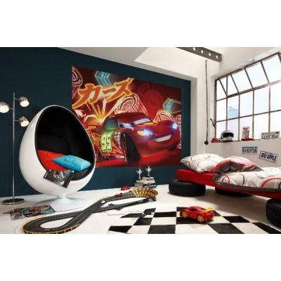 Φωτοταπετσαρία  τοίχου παιδική με Αυτοκίνητα McQueen DISNEY 254x184cm