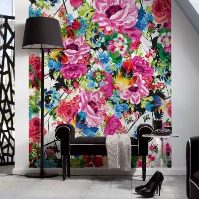 """Φωτοταπετσαρία τοίχου Φλοράλ Komar 4-749  """"Romantic Pop"""" 154x254cm"""