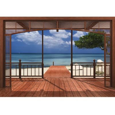Φωτοταπετσαρία τοίχου Με θέα στην παραλία (beach) 388x270cm