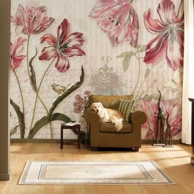 Φωτοταπετσαρία τοίχου Πίνακας με λουλούδια (flowers) 368x254cm