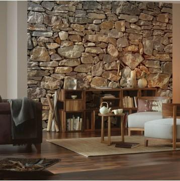 Φωτοταπετσαρία τοίχου Komar 8-727-Stone Wall Φυσική πέτρα 368x254cm