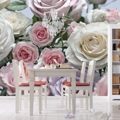 Φωτοταπετσαρία τοίχου Τριαντάφυλλα (flowers) 368x254cm