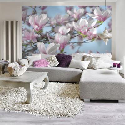 Φωτοταπετσαρία τοίχου Ροζ Μανόλια (flowers) 368x254cm