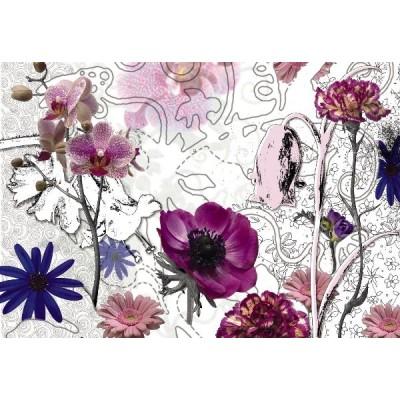 Φωτοταπετσαρία τοίχου Μώβ Λουλούδια (flowers) 368x254cm