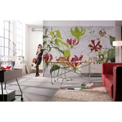 Φωτοταπετσαρία τοίχου Λαμπερά Λουλούδια (flowers) 368x254cm