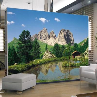 Φωτοταπετσαρία τοίχου Λιμνούλα στο βουνό (φύση) 388x270cm