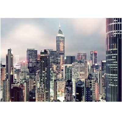 Φωτοταπετσαρία τοίχου Ορίζοντας με ουρανοξύστες (buildings) 368x254cm
