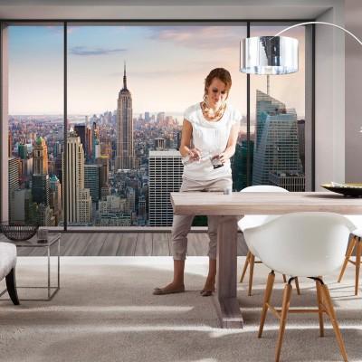 Φωτοταπετσαρία τοίχου Θέα στη Νέα Υόρκη (NEW YORK)  368x254cm