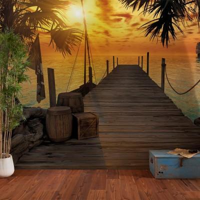 """Φωτοταπετσαρία τοίχου Komar 8-918 """"Treasure Island """" 368x254cm"""
