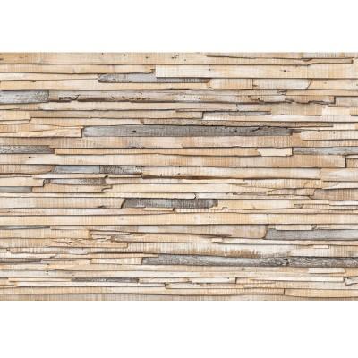 Φωτοταπετσαρία τοίχου Ασβεστωμένο ξύλο 368x254cm