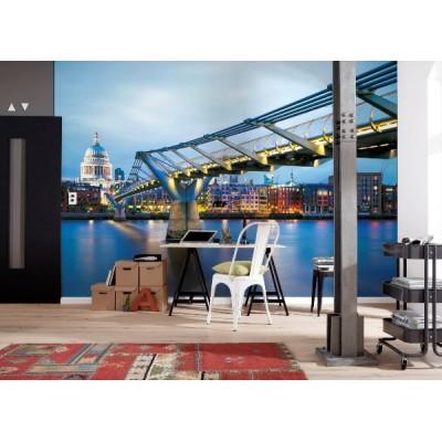 Φωτοταπετσαρία τοίχου  Komar 8-924 Φωτισμένη Γέφυρα στο Λονδίνο (LONDON) 368x254cm