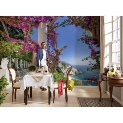 Φωτοταπετσαρία τοίχου Μωβ λουλούδια (AMALFI) 368x254cm