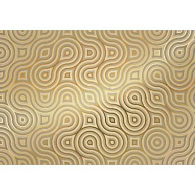 Φωτοταπετσαρία τοίχου Χρυσά Σχήματα 368x254cm