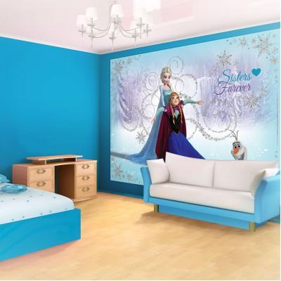 Φωτοταπετσαρία τοίχου παιδική Frozen Sisters forever Disney σε 2 διαστάσεις