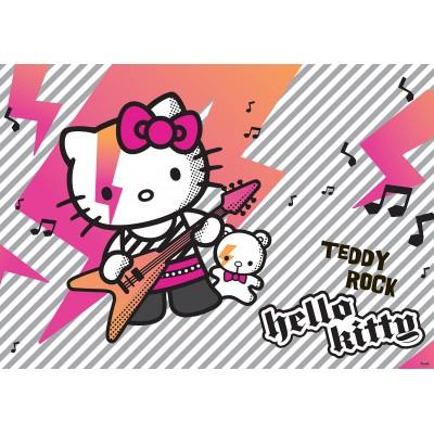 Φωτοταπετσαρία τοίχου παιδική Hello Kitty Teddy Rock Music 208x146cm