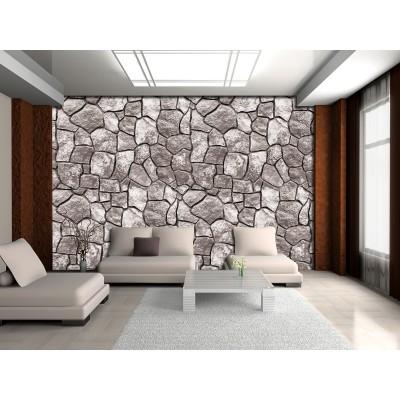 Φωτοταπετσαρία τοίχου GRAY STONE MOSAIC-Πέτρινο Μωσαϊκό 312x219