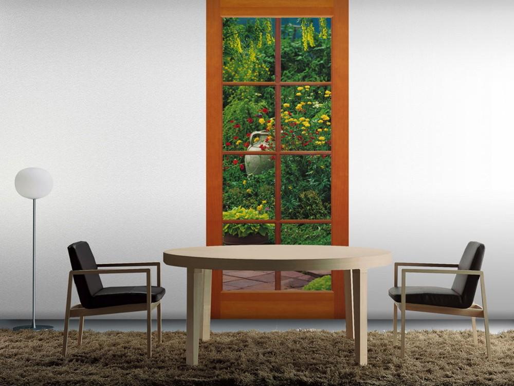 """Φωτοταπετσαρία τοίχου Παράθυρο στη φύση Komar 2-1200  """"Terrassentür""""  97x220cm"""