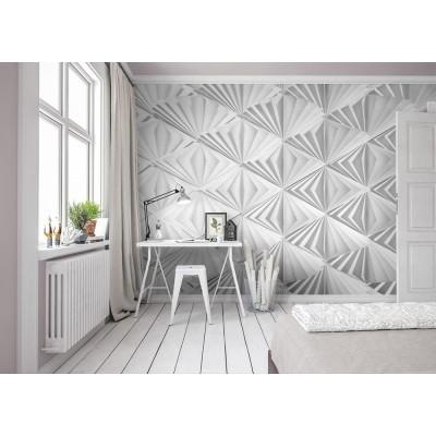 """Φωτοταπετσαρία τοίχου 3D Komar 8-204  """"Delta"""" Γεωμετρικά σχήματα 368X254"""