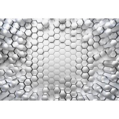 """Φωτοταπετσαρία τοίχου 3D Komar 8-206  """"Titanium"""" Γεωμετρικά σχήματα 368X254"""