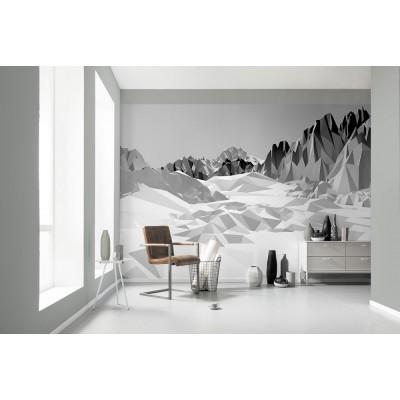 """Φωτοταπετσαρία τοίχου 3D Komar 8-208  """"Icefields"""" Γεωμετρικά σχήματα 368X254"""