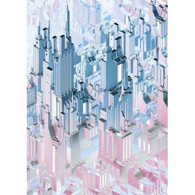 """Φωτοταπετσαρία τοίχου 3D Komar 4-209  """"Duplex"""" Γεωμετρικά σχήματα 184X254"""