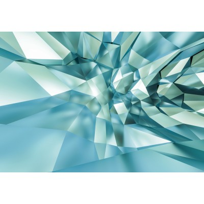"""Φωτοταπετσαρία τοίχου 3D Komar 8-879  """"Crystal Cave"""" Γεωμετρικά σχήματα 368X254"""