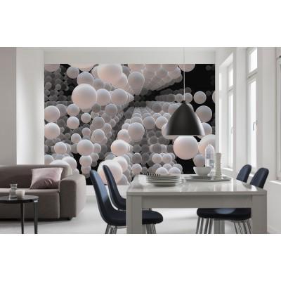 """Φωτοταπετσαρία τοίχου 3D Komar 8-880  """"Spherical"""" Γεωμετρικά σχήματα 368X254"""