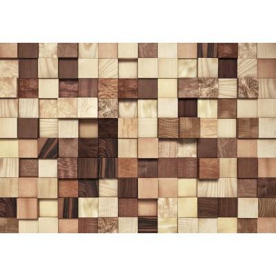 Φωτοταπετσαρία τοίχου 3D Komar 8-978 Lumbercheck  Απομίμηση ξύλου 368X254