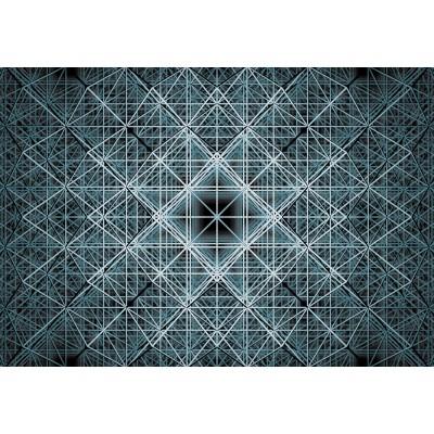 """Φωτοταπετσαρία τοίχου 3D Komar XXL4-061 Non woven Vlies  """"Matrix"""" Γεωμετρικά σχήματα 368X248"""